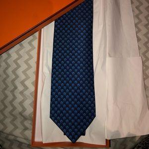Brand new Blue Hermes Tie